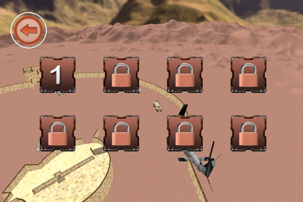 Helicopter Desert Conflict