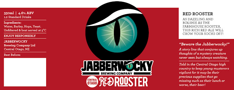 Logo of Wanaka Beerworks Jabberwocky Red Rooster