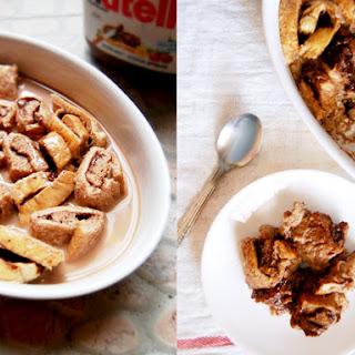 Nutella Chocolate Bread Pudding