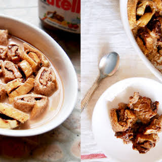Nutella Chocolate Bread Pudding.