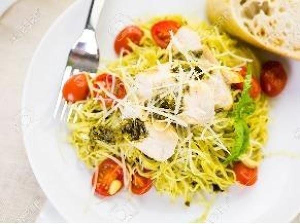Angel Hair Pasta And Chicken With Pesto Sauce Recipe