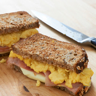 Fluffy Scrambled Egg & Ham Sandwiches.