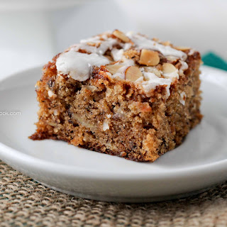 BANANA COCONUT CAKE WITH ALMOND STREUSEL CRUNCH