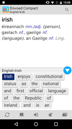English <> Irish Slovoed Dictionary Compact screenshot 5