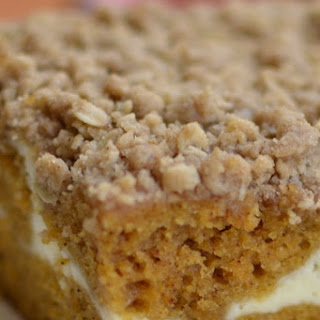 Pumpkin Cream Cheese Crumb Cake.