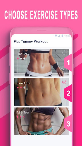 Screenshot for Female Flat Tummy Workout in United States Play Store