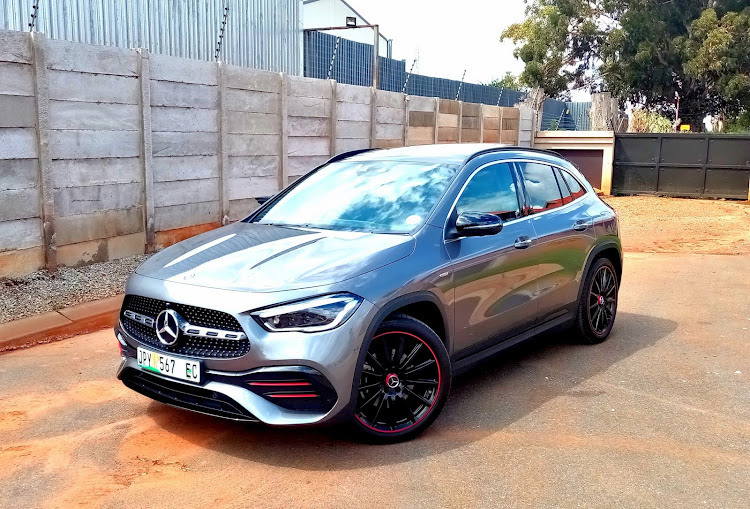 The new GLA adds to the crossover niche with Mercedes-Benz qualities of premium features at a price. Picture: PHUTI MPYANE