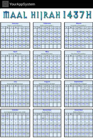 Download Hijri Islamic Calendar Google Play softwares