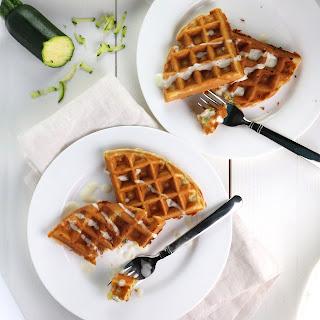 Savoury Zucchini Waffles