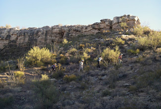 Photo: The last steep climb up the rocky access trail to the top of Indian Mesa at 2200 ft.