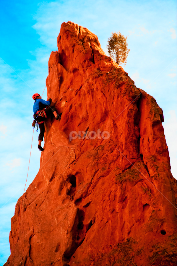 Almost There by Kimberly Sheppard - Sports & Fitness Climbing ( rock climbing )