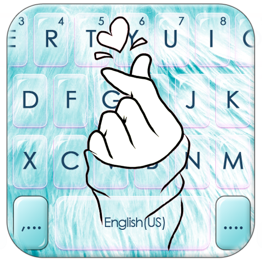 Blue Love Heart Keyboard Theme