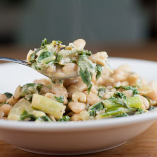 "White Bean ""Risotto"" With Swiss Chard & Mascarpone"