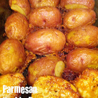 Parmesan Upside Down Baked Potatoes.