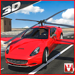 Flying Car Racing 3D Icon