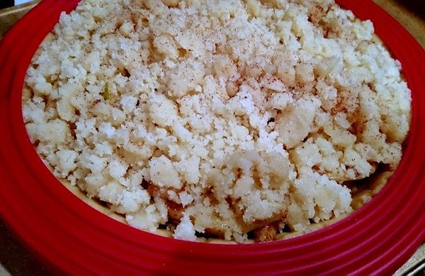 Crumble the mixture evenly over the apples and sprinkle with cinnamon, lightly.Bake for 20...