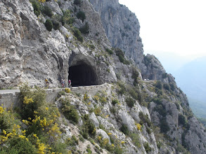 Photo: tunnel above Greolieres