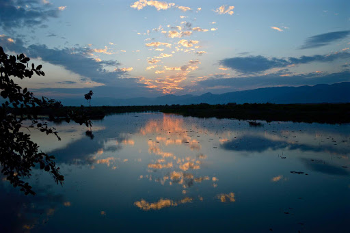 inle-lake-sunset.jpg - Sunset over Inle Lake in Myanmar.