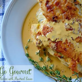 Havarti-Stuffed Chicken with Mustard Cream Sauce