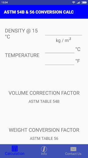 Download ASTM 54B & 56 CONVERSION CALC Google Play softwares