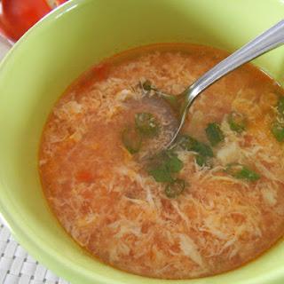 Mexican Egg Drop Soup {Sopa de Huevo y Ajo}