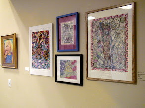 Photo: 4-21-13 Les & Sydel Art exhibit at Weissman Ctr Apr. 2013 Weissman Ctr - Sher Artwork exhibit