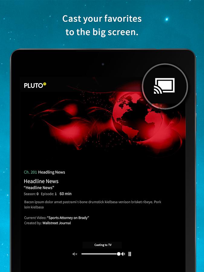 Pluto TV: TV for the Internet - screenshot