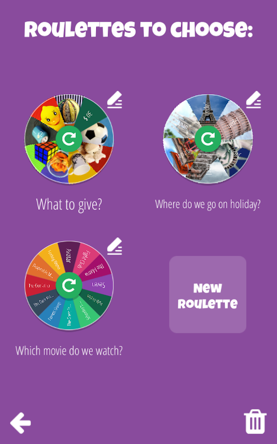 Decision Roulette- screenshot