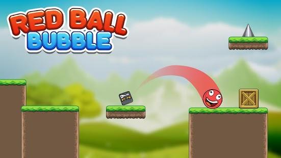 Bubble Red Ball Adventure - Jump Ball 2018 Ekran Görüntüsü