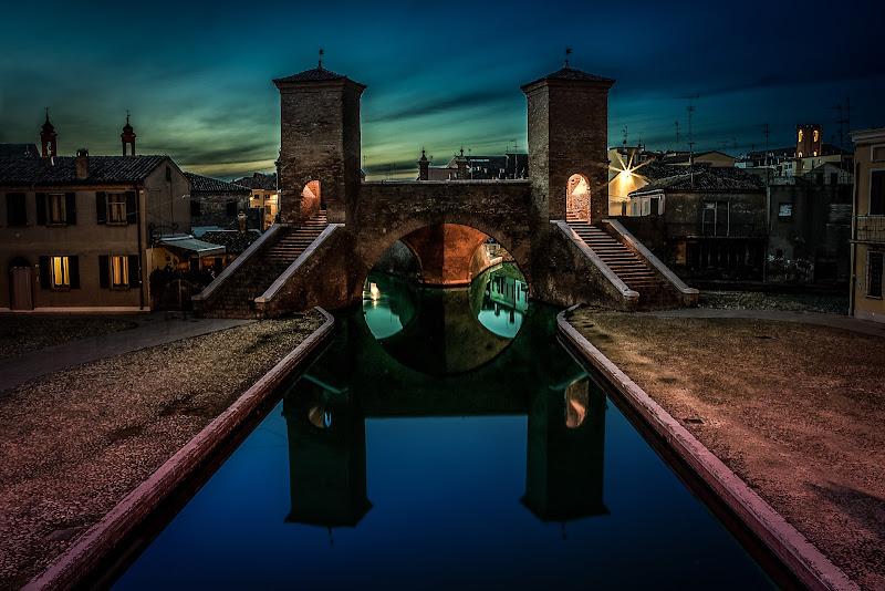 un tramonto a Comacchio di utente cancellato