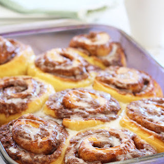 Pizza Dough Cinnamon Rolls.