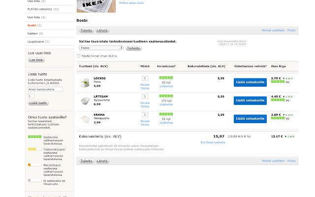 IKEA Finland to Latvia