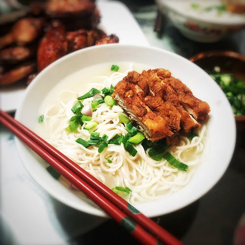 Shanghai, Pork Chop, Noodles, recipe, chinese, soup noodle,  上海, 豬排麵, traditional