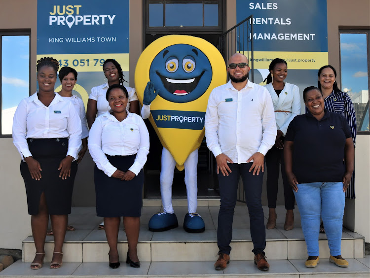 Just Property King William's Town owner Gérard Smith and staff at their offices in Buffalo Road.
