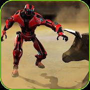 Robot Vs Bull Fighting Game