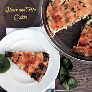 Crustless Spinach and Feta Quiche