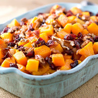 Roasted Butternut Squash with Bacon.