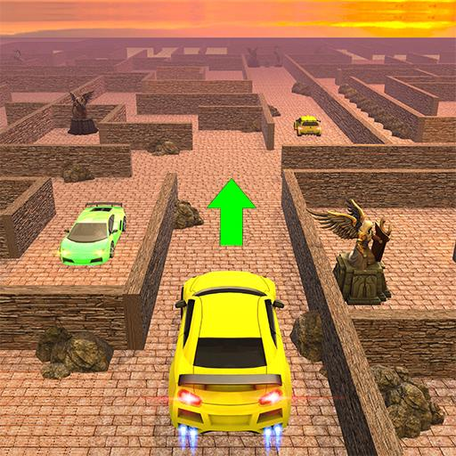 Mountain car driving in Labyrinth Maze 3d