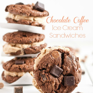 Chocolate Coffee Cookie Ice Cream Sandwiches