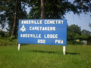 Photo: cemetery where many of Kalonji's family members are buried