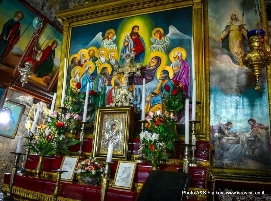 Икона Успения Богородицы в гробнице Богородицы. Иерусалим.