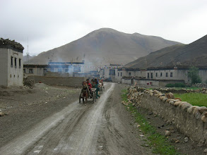 Photo: A small village along the Everest road