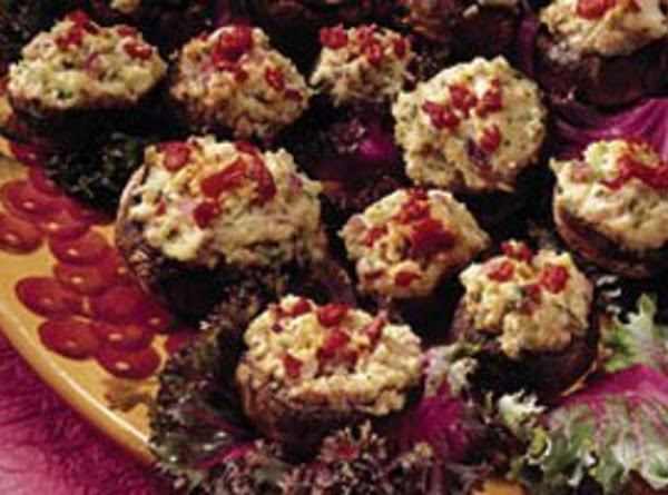 Lets Go Nuts! Cheese And Pepper Stuffed Mushrooms Recipe
