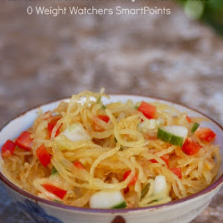 Easy Healthy Asian Spaghetti Squash Salad - 0 SmartPoints.