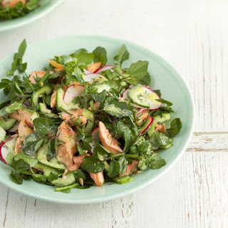 Smoked Trout, Cucumber and Watercress Salad.