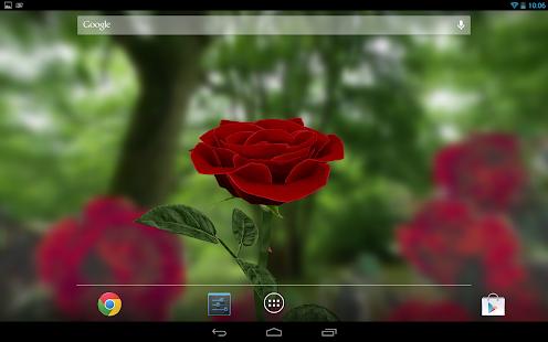 3D玫瑰動態壁紙免費