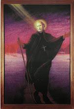 Photo: Współczesny obrazek o wym. 11.5 x 17 cm. Na odwrocie modlitwa.