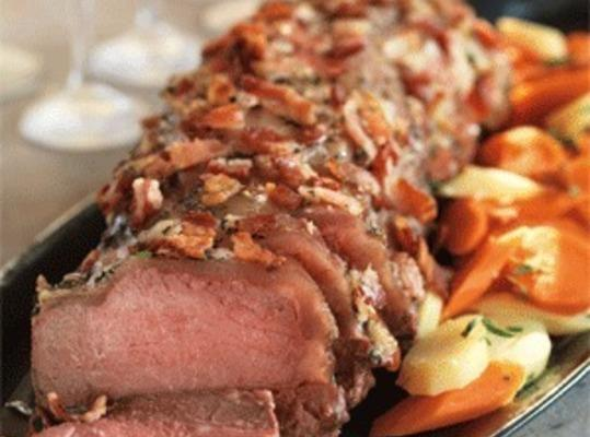 Bacon & Herb Topped Beef Roast Recipe