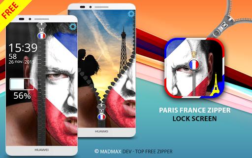 France Zipper Lock Screen
