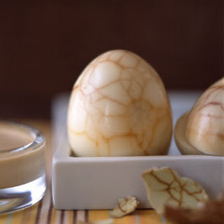 Tea-Marbled Eggs with Soy Balsamic Mayonnaise